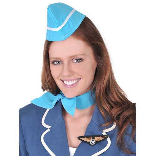 Air Hostess Set - Hat, Scarf and Pin