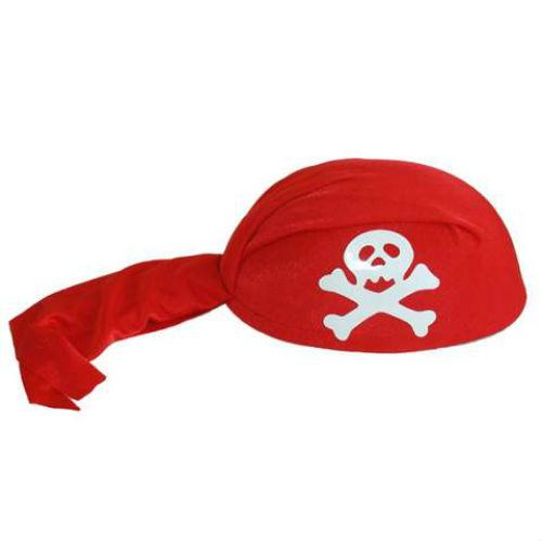 pirate bandana skull cap red costume world