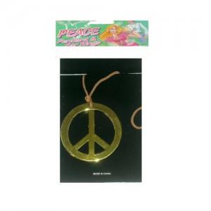 gold peace pendant