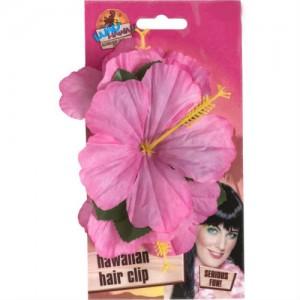 hawaiian hair clip pink