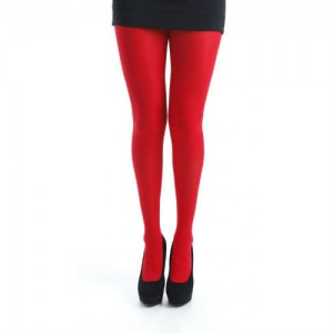 music legs red tights