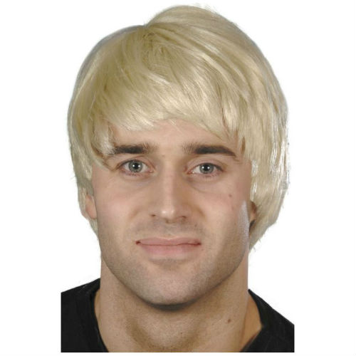 Short Blonde Wig Mens 38