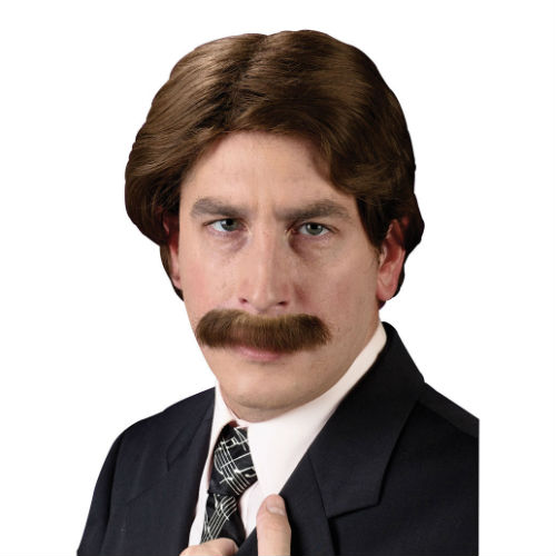 Anchor Man 70′s Wig and Moustache