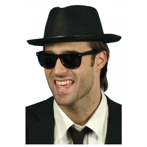 Blues Brothers   Gangster Fedora Hat - Costume World b06fee89fc7