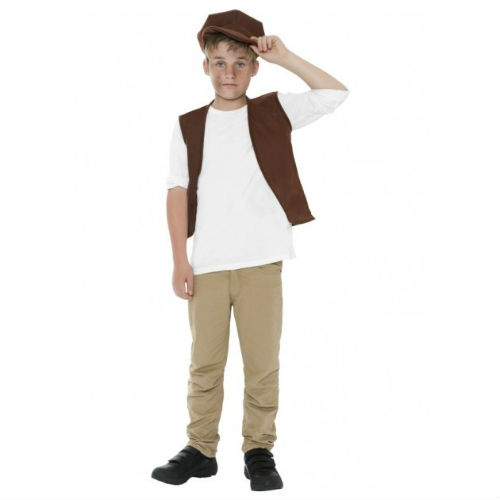 Boys Victorian Colonial Vest and Hat