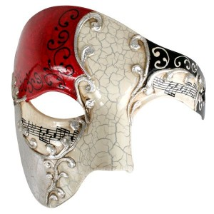 Maestro Red and Silver Eye Mask