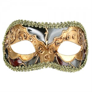 Luciana Metallic Eye Mask