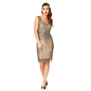 gatsby nude silver gold