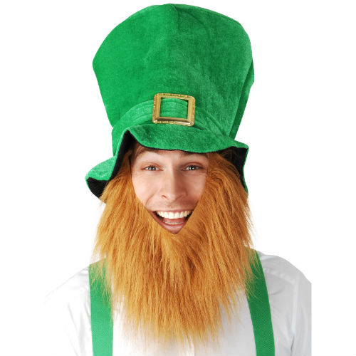 St Patricks   Leprechaun Irish Hat With Beard - Costume World 1b30fcc3e6e
