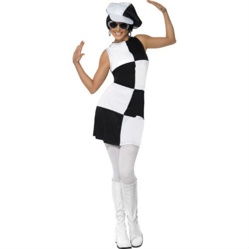 1960's party girl black white