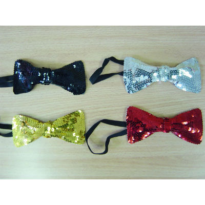 red bow tie sequin