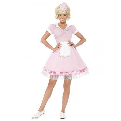 50's pink diner girl