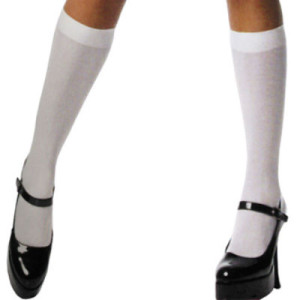 knee hi white stocking socks