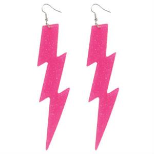 pink lightening bolt earrings