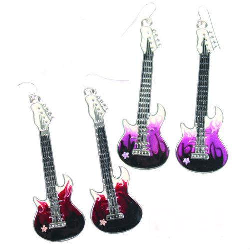 pink red guitar