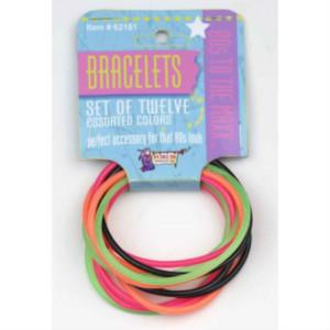 80's fluro rubber bracelets
