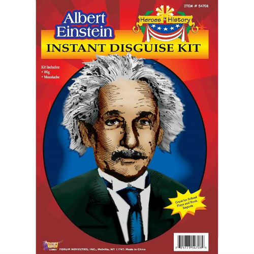 Albert Einstein Wig & Moustache