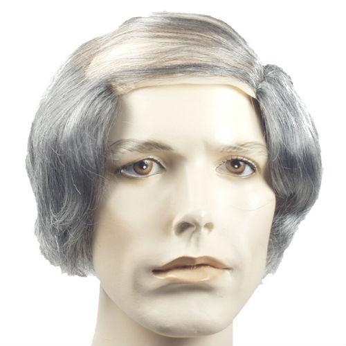 Bald Comb Over Grey Wig Deluxe