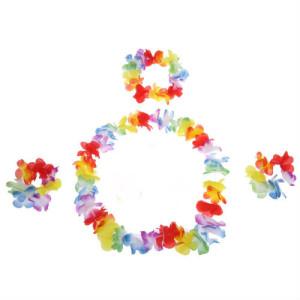 Rainbow Flower Lei Set